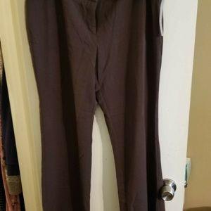Black dress pants with belt